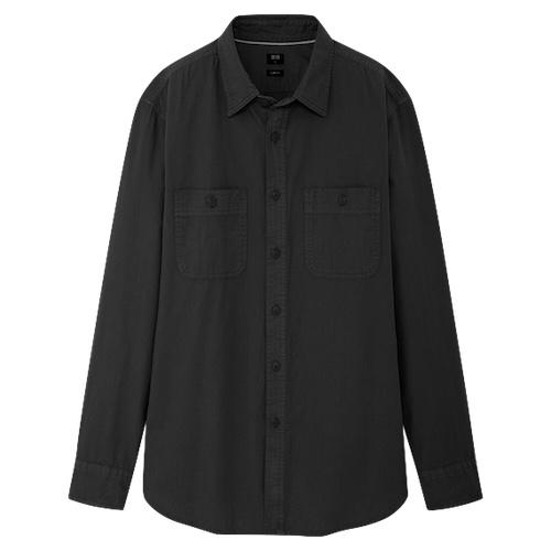 ユニクロ ウォッシュワークシャツ