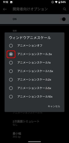 ウィンドウ アニメ スケール